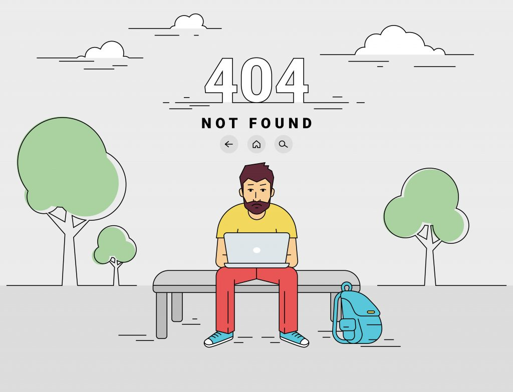E-commerce 404 error page