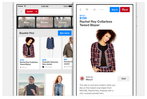 Pins on product page, pinterest marketing