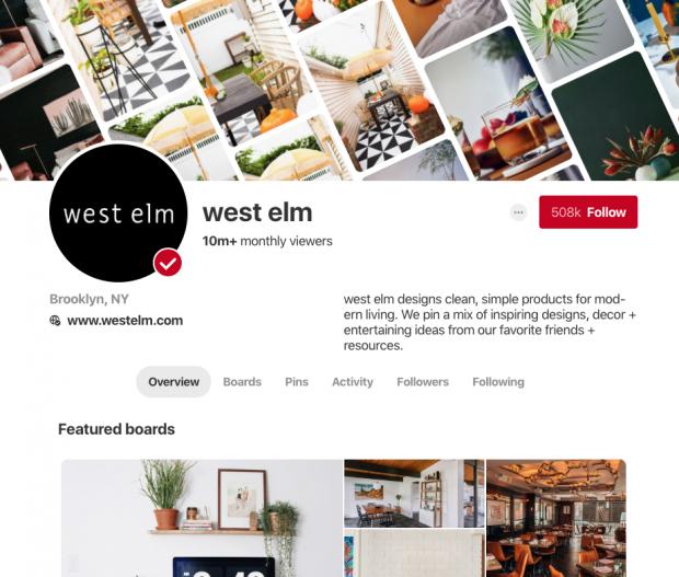 Pinterest profiles